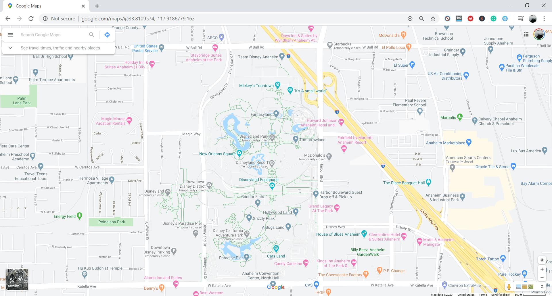 Disneyland Google Maps