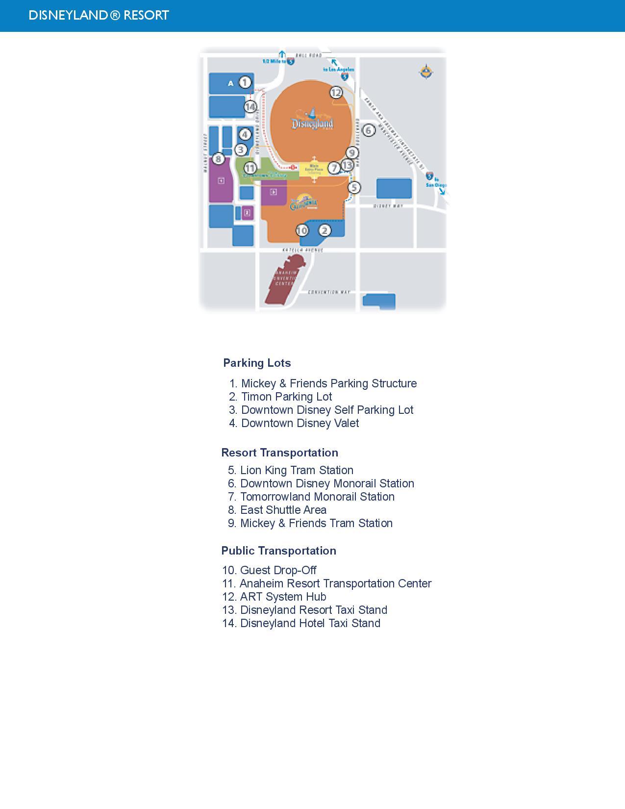 Disneyland Parking Map