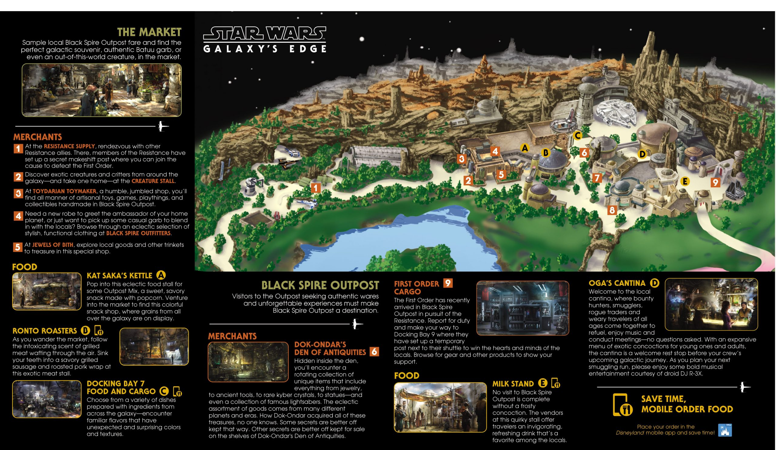 Map of Star Wars: Galaxy's Edge Disneyland