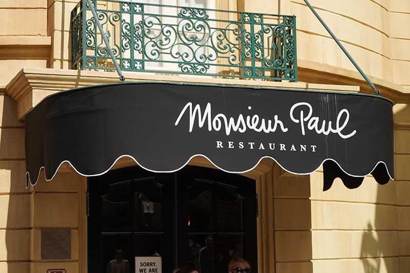 Monsieur Paul epcot restaurant