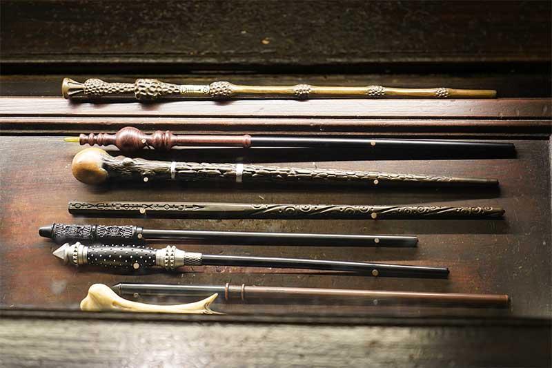 interactive wands at Ollivanders