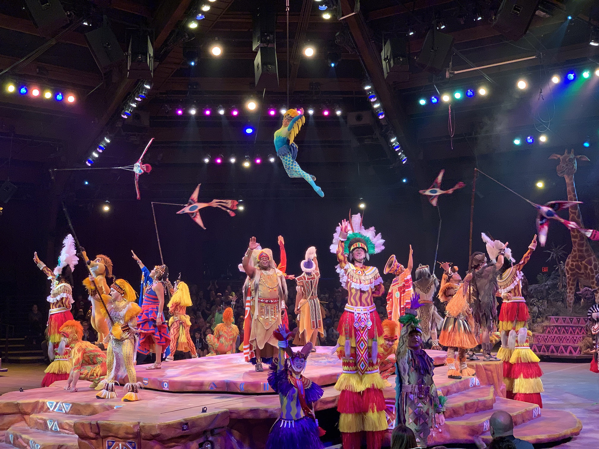 festival of the lion king - longest attraction at disney world