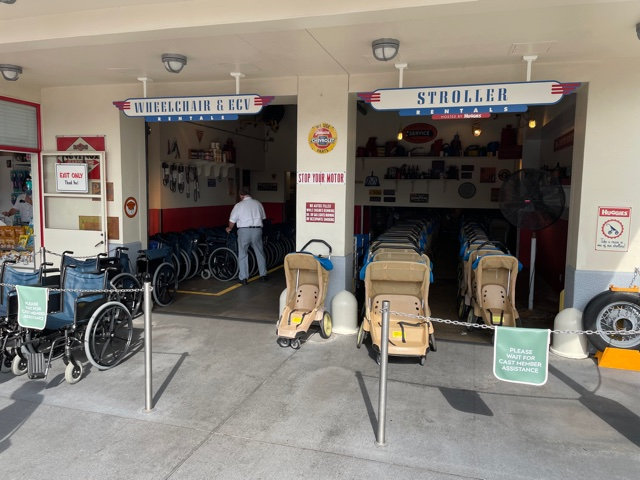 where to rent strollers and wheelchairs at disney world