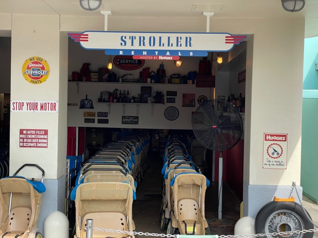Renting strollers at Disney World