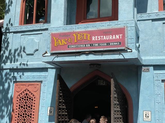 Yak & Yeti restaurant in Animal Kingdom