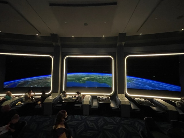 inside Epcot's Space 220