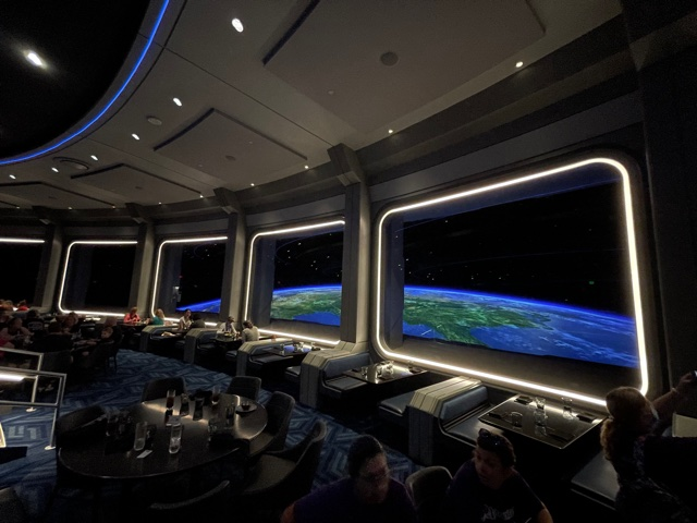 dining room at Epcot's Space 220