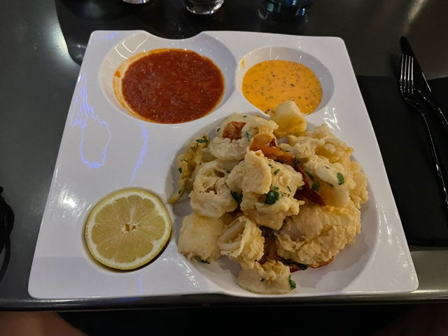 food at Space 220 restaurant
