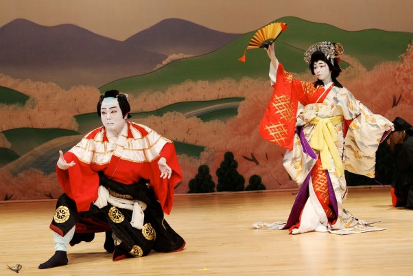 Kabuki Dance featuring Bando Kotji with live music at Japan Society