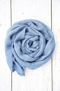 Dusty Blue Linen Scarf