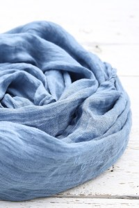 Dusty Blue Linen Scarf | MagicLinen