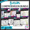 4th Grade Fiction Bundle cover showing various product covers with printable and digital worksheets