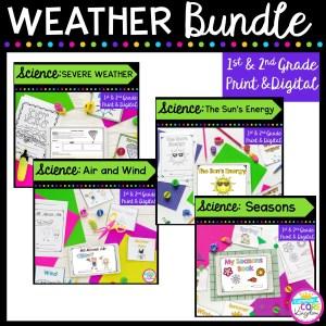 Weather Unit Bundle- 1st & 2nd Grade Google Slides Distance Learning