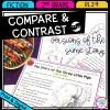 Compare and Contrast Different Versions of Stories for 2nd grade cover showing printable and digital worksheets