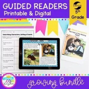 Guided Reading 5th Grade GROWING Bundle - Printable & Digital Distance Learning