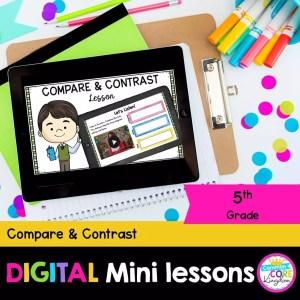 Compare & Contrast 5th Grade Digital Lesson Google & Seesaw Format