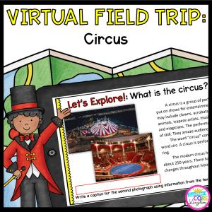 Virtual Field Trip Circus Google Slides Format