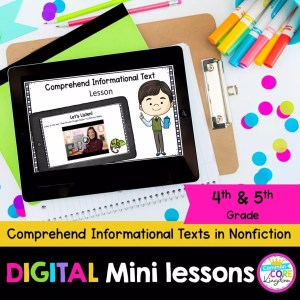 Comprehend Informational Text in Nonfiction Digital Lesson Google Slide & Seesaw