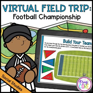 Virtual Field Trip to the Football Championship in Google Slides and Seesaw Format