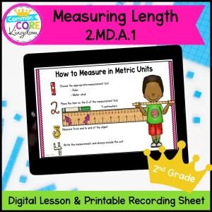 Measuring Length for 2nd Grade in Google Slides Format