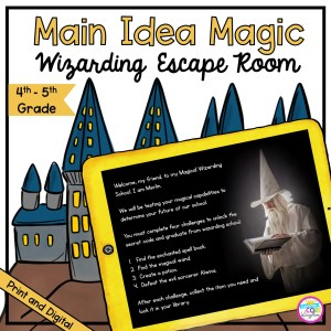 Main Idea Magic Wizarding Escape Room