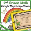 Lucky's Map Math Escape Room for 2nd Grade