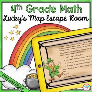 4th Grade Math Escape Room Lucky's Map