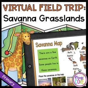 Virtual Field Trip to the Savanna Grassland - Primary- Google Slides & Seesaw