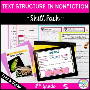 Skill Pack: Text Structure for 3rd Grade RI.3.8