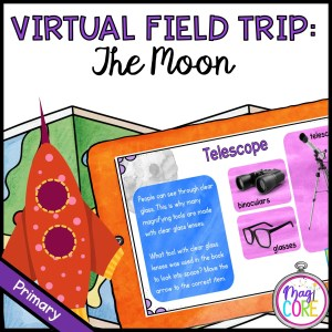 Virtual Field Trip to the Moon - Primary - Google Slides & Seesaw