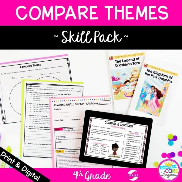 4th Grade Compare Themes Skill Pack RL.4.9