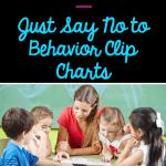 Pin cover for behavior clip chart blog post about using alternatives for behavior management