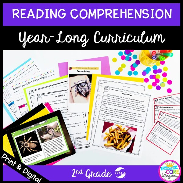 Full year long curriculum for 2nd grade reading comprehension cover