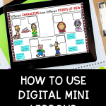 How to use digital mini lessons pin