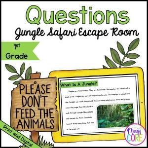 1st Grade Ask & Answer Jungle Safari Escape Room