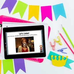 Image of a digital mini lesson focused on how to teach plot structure and story structure skills
