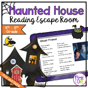 4th & 5th - Haunted House Reading Comprehension Escape Room - Print & Digital