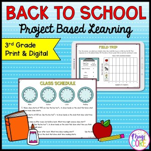 3rd Grade Math Project Based Learning - Back to School - Print & Digital