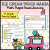Ice Cream Truck Mania: Math Project Based Learning - 1st - Print & Digital