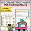Ice Cream Truck Mania: Math Project Based Learning - 5th - Print & Digital