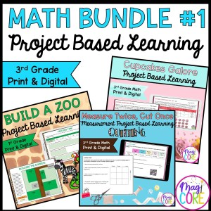 3rd Grade Math Project Based Learning Bundle #1