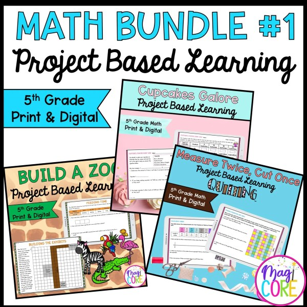 5th Grade Math Project Based Learning Bundle #1
