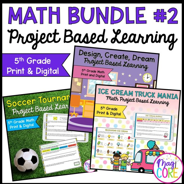5th Grade Math Project Based Learning Bundle #2