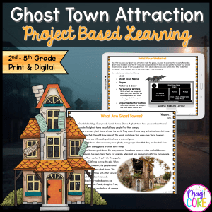 Ghost Town Halloween Resource Project Based Learning Cover