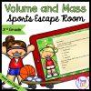 Volume & Mass 3rd Grade Math Sports Escape Room - Print & Digital
