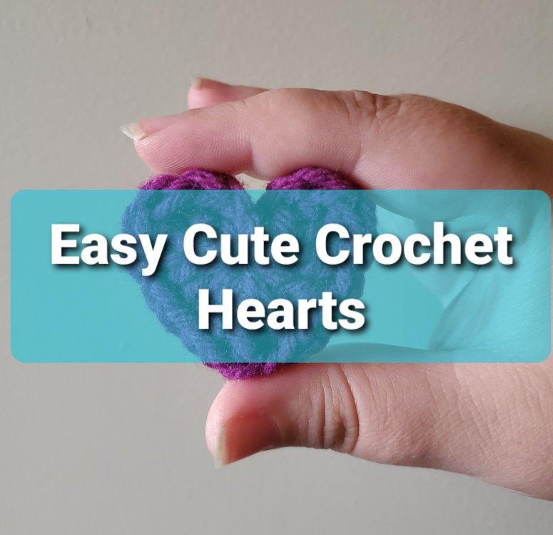 Cute crochet hearts