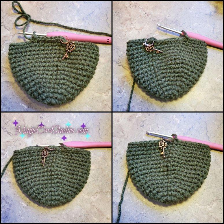 crochet apple round 16
