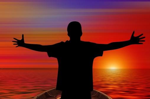 海に浮かぶ太陽