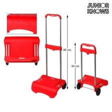 Αναδιπλούμενο Καροτσάκι για Αποσκευές Junior Knows 88261 (80 x 28 cm) Κόκκινο