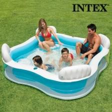 Οικογενειακή Φουσκωτή Πισίνα Summer με Καθίσματα Intex